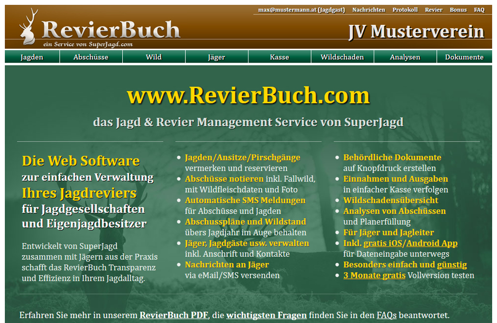 RevierBuch - Jagd & Revier Management Service