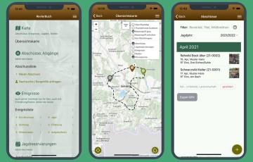 RevierBuch App - Start, Abschuss