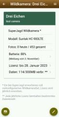 SuperJagd Wildkamera Service - Beispiel Fotos am Handy