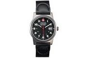 Wenger® Swiss Military Armbanduhr mit Leder/Nylon-Armband für Herren