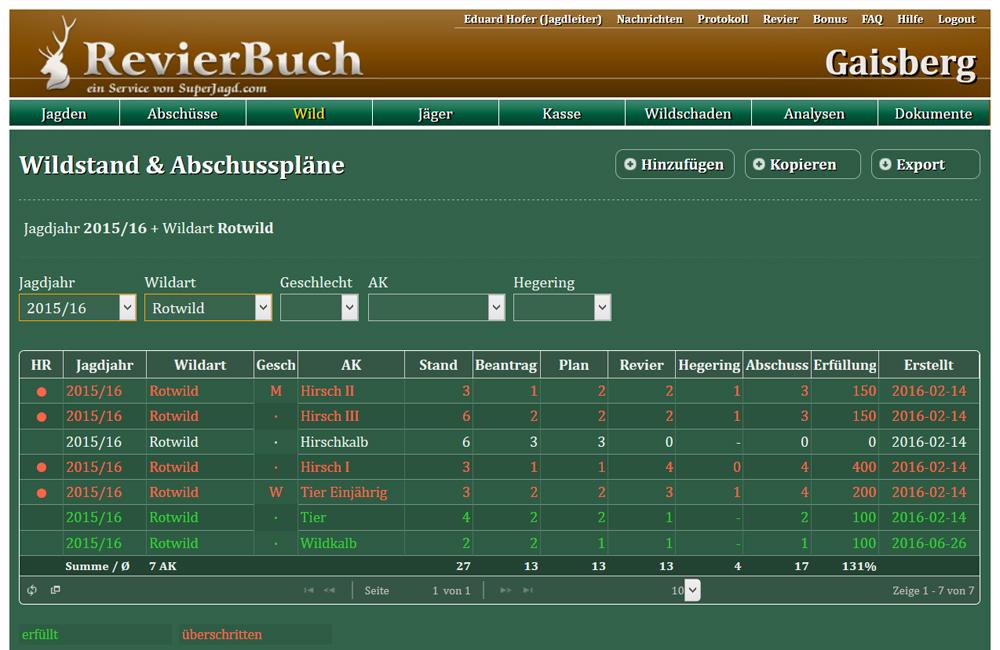 RevierBuch ist jetzt fit für Deutschland und 6 Monate gratis