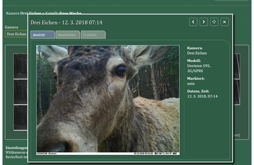 RevierBuch - jetzt mit Wildkameras