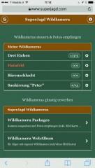 SuperJagd Wildkamera Service - Beispiel Übersicht am Handy