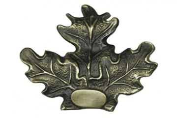 Eichenlaubabdeckung Bronze