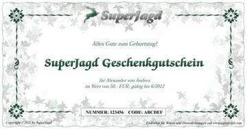 SuperJagd PDF Geschenkgutschein